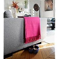 Casa Paola Plaid Laine Alpaga Luxe Framboise 76f44276012