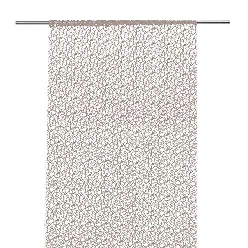 JEMIDI Flächenvorhang - Frida - Häkeloptik Flächen Gardine Vorhang Schiebegardine Schal Taupe