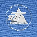 10T Jim Twin - Selbstfüllende Iso-Matte Doppel-Matratze mit Kunststoffventil blau antislip 190x120x5cm -