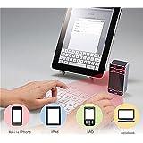 Sublimagecreations® Projecteur laser Bluetooth Virtuel clavier AZERTY, Clavier Français ! Keyboard Smartphone Tablet PC portable, Bluetooth et USB