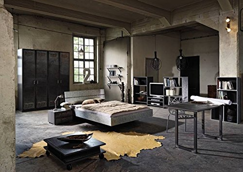 schreibtisch industrial print optik alteisen optik. Black Bedroom Furniture Sets. Home Design Ideas