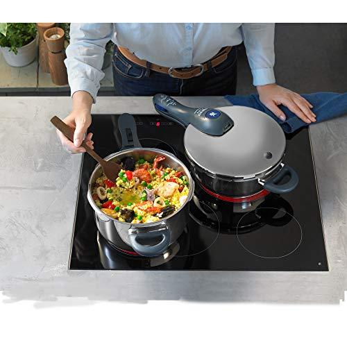 WMF Perfect Plus Schnellkochtopf 6,5l, Cromargan Edelstahl poliert, 2 Kochstufen Einhand-Kochstufenregler, induktionsgeeignet, spülmaschinengeeignet, Ø 22 cm