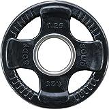 Body Solid Olympic Disque d'haltères en Caoutchouc 50 mm, Mixte, ORTK1-25, Noir, 1,25 kg