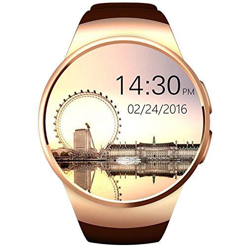 Smart Watches, HuiHeng Relojes inteligentes Bluetooth Smart Watch Para iOS iPhone Android Samsung LG KW18 Reloj inteligente con Cámara Remota Tarjeta de apoyo cardíaco SIM TF para hombres de negocios zalando