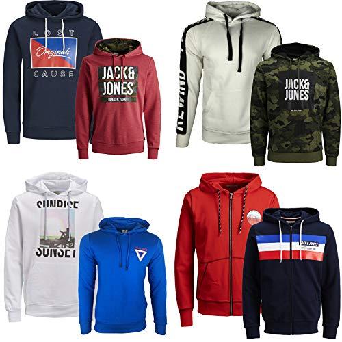 JACK & JONES Kapuzenpullover 2er Pack Hoodie Sweat Shirt Herren Baumwollmix S M L XL XXL (M, 2er Paket @ 16)