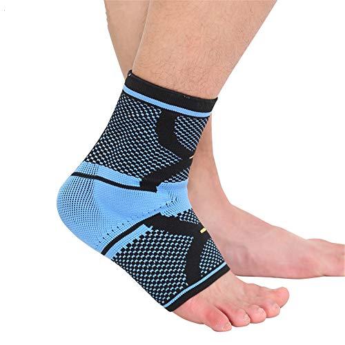 sfycstd Tutore per Caviglia Antiscivolo Cavigliera Traspirante Elastico Silicone Supporto per Caviglia Pallavolo Esecuzione Basket Ciclismo Blu