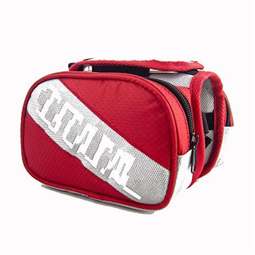 Liergou Universal Fitting Outdoor Zubehör Sattelstütze Tasche Schwanz hinten Tasche Fahrrad Tasche Fahrrad Satteltasche regendicht MTB Rennrad (Farbe : Rot)