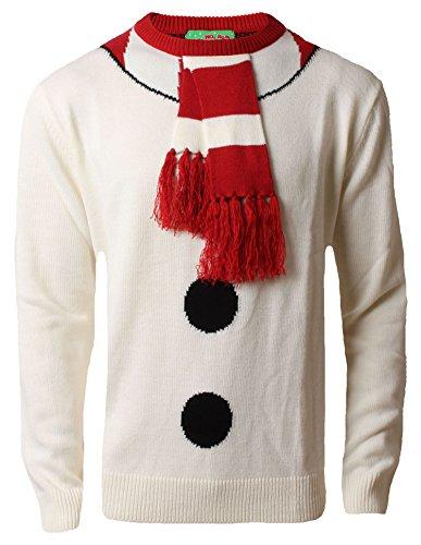 Herren Damen Hohoho Giant Christmas Jumper 3D Weihnachten Santa Elf Rentier 3XL, 4XL5XL, Schneemann-Outfit, Ecru, - Santa-outfit Männer Für