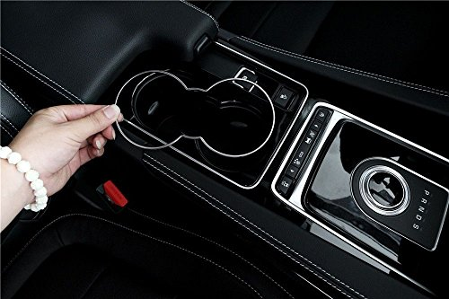 abs-front-water-cup-holder-trim-cover-frame-for-jaguar-xf-xe-f-pace-2016