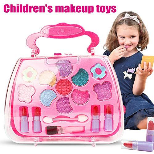 Proglam Prinzessin Spielzeug Mädchen Makeup Tools Set Koffer Kosmetik Pretend Play Kit Kinder Geschenk