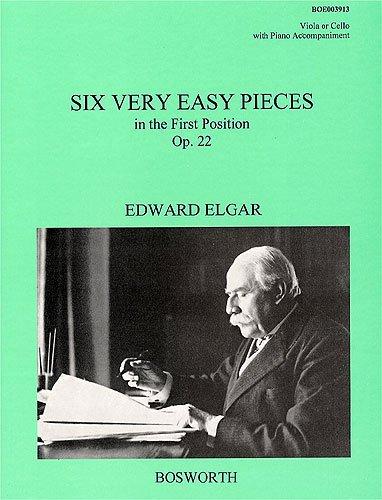 EDWARD ELGAR: 6 VERY EASY PIECES IN THE FIRST POSITION OP. 22 - Sechs sehr einfache Stücke für...