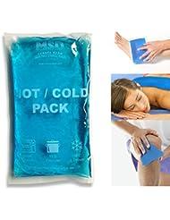 MSD - Gel frío/calor, 15 x 25cm, doble uso, bolsa con hielo o agua caliente
