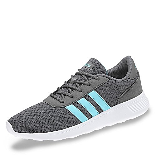 adidas Damen Lite Racer Fitnessschuhe, Grau (Grey Four F17/Ftwr Wht/Clear Aqua), 39 1/3 EU