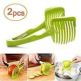 lezed (2pcs) mano circular Slicer, multifuncional de redondas Rallador fruta y verdura, multifuncional Alimentos Clip (verde)