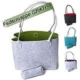 Filztasche Henkeltasche Shopper Damen große Handtasche Einkaufstasche Tragetasche Schultertasche in...