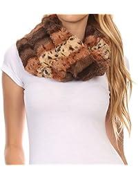Sakkas Manula Long Wide Infinity Wrap Around Fuzzy Fur Fall Winter Classic Scarf