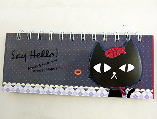 Kawaii Animal Zoo Decoración troqueladas carcasa diseñada - Pequeño cuaderno espiral - Gato Negro