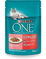 One Sterilcat Katzenfutter mit Lachs und Karotten, 24er Pack (24 x 85 g)