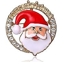 fghfhfgjdfj Santa Claus Head Charming Dress Clip Girl Scarf Pins Fashion Ladies Brooch Pin