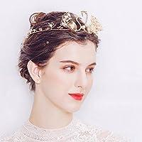 hopewey Nupcial Tiara Rhinestone con cuentas diadema boda Prom accesorio del pelo Nupcial boda peine del pelo boda nupcial corona diadema HWTS-J1664