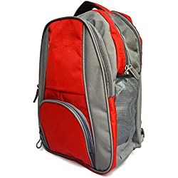 Vintage Stylish Girls Boys Unisex Casual Backpack College Backpack School Back Pack-Red and Grey(bag 292)