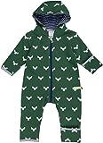 loud + proud Unisex Baby Schneeanzug Overall Woll-Anteil, Grün Pin, 80 (Herstellergröße: 74/80)