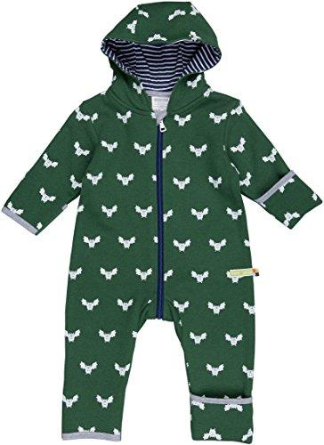 loud + proud Unisex Baby Schneeanzug Overall Woll-Anteil, Grün (Pine Pin), 68 (Herstellergröße: 62/68)