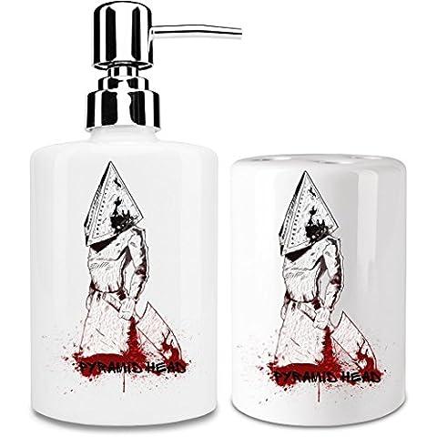 Pyramid Head Dispensador de jabón y Porta Cepillo de dientes