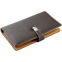 Esdrem scheda Gazzetta nome biglietti da visita in pelle Libro Portafoglio Porta Carte di Credito per 240biglietti Grey