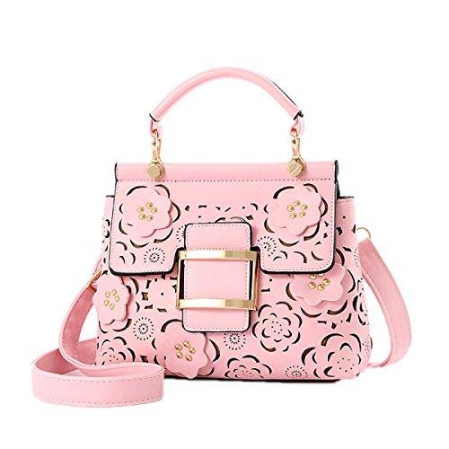 Frauenhandkurierbeutel 2017 Art Und Weise Hohle Blumendamen Schulterbeutel Beiläufige Handtaschen Pink