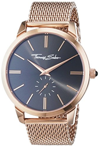 Thomas Sabo Montre pour Homme Rebel Spirit Couleur Or Rose Marron Analogique Quartz
