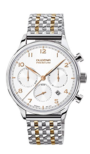 Dugena Herren-Armbanduhr Sigma Chronograph Quarz Edelstahl 7090203