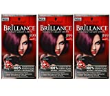 3x Schwarzkopf BRILLIANCE [ 899 SAPHIR DUNKELVIOLETT ] Intensiv Color Creme Coloration (3´er Pack)