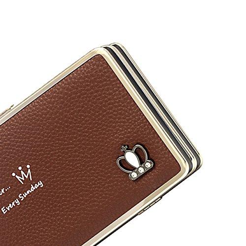 Portafogli da Donna Borsa con Foglia d'albero, Sunroyal Multifunzionale [Grande capacità] Smartphone Wristlet Custodia Case Cover per iPhone 7 /7Plus /6S /6S Plus /6 /6Plus /SE /5S, Samsung Galaxy S8  Modello 21