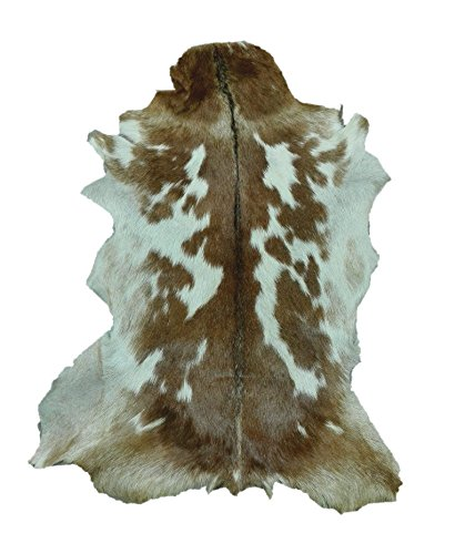 Zerimar Alfombra piel de cabra Medidas: 95x70 cms 100% Natural Ideal para la decoración