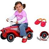 Hummelladen || Bobby Vorteils Paket mit Flüsterräder und Shuhschoner || Car Classic Baby Rutscher Rutschauto Flüsterreifen