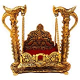 Keshav Industries Gold Plated Goddess Hanging Jhula Singhasan (Gold)-KESHAV4461