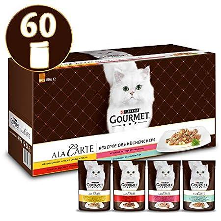 PURINA GOURMET A la Carte Katzenfutter nass, Sorten-Mix, 60er Pack (60 x 85g)