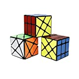OJIN Yongjun YJ Specific Speed Cube Puzzle Sets-Pack de 3 (Incluye Cubo de 3X3 Fluctuation Angle Puzzle, Windmill Cube 2x3 Shape Mod, Fisher Cube 3x3x3 Shape Twisty Puzzle) (Negro)