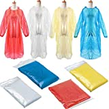 HOME CUBE Disposable Pocket Raincoat Adult Emergency Waterproof Hood Poncho Travel Camping Must