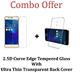 Premium Quality Tempered Glass Asus Zenfone 3 Max ZC520TL Tempered + Transparent Back Cover [Combo Pack]