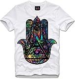 Lilith T-Shirt Hamsa Hand der Fatima of Trippy Dope MDMA LSD, M
