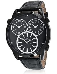 Lindberg&Sons LS11-3123-3_schwarz-48mm - Reloj , correa de cuero color negro