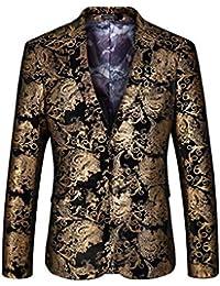 c9319f6c19afe Xuba Burgundy Red Floral Blazer Men Print Pattern Stage Suit Jacket Royal  Blue Velvet Blazer Slim
