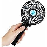 Ventilador Portatil,VENMO Portátil recargable ventilador refrigerador de aire mini operado mano Held USB 18650 batería (Negro)