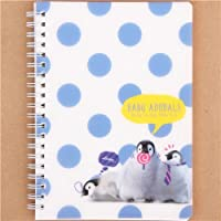 Cute B6 Notepad with Blue dots and Penguin Chics by Q-Lia