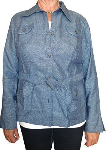 Avec ceinture heine veste en jean Bleu - Bleu