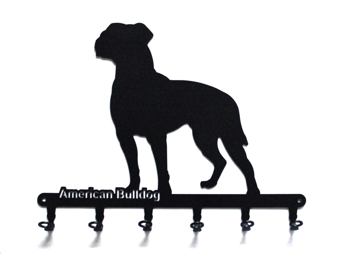 "Key holder – "" American Bulldog ""- beautiful key hook for wall – 6 hooks"