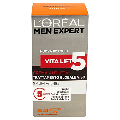 L'Oréal Paris Men Expert Vita Lift5 - Crema anti-età trattamento globale viso - 50 ml