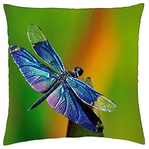 Dragonfly Macro Photo - Throw Pillow Cover Case (18